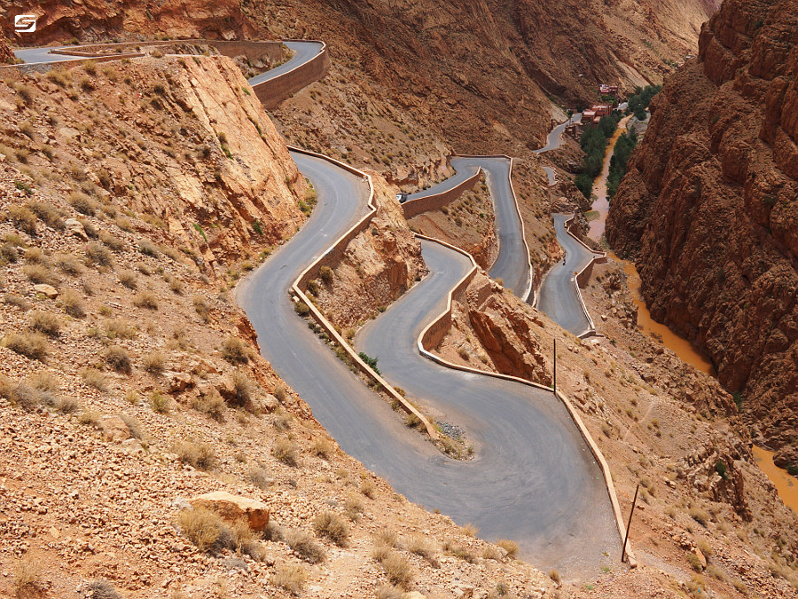 Morocco - Dades Gorge - Winding Road